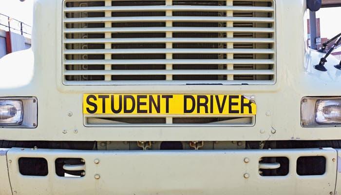 professional truck driver CDL student diver